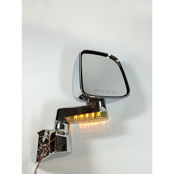 JM3515CL, Chrome, LED light mirror, Factory style Mirror for YJ,TJ,JK,TJ Unlinmited,Unlimited JK