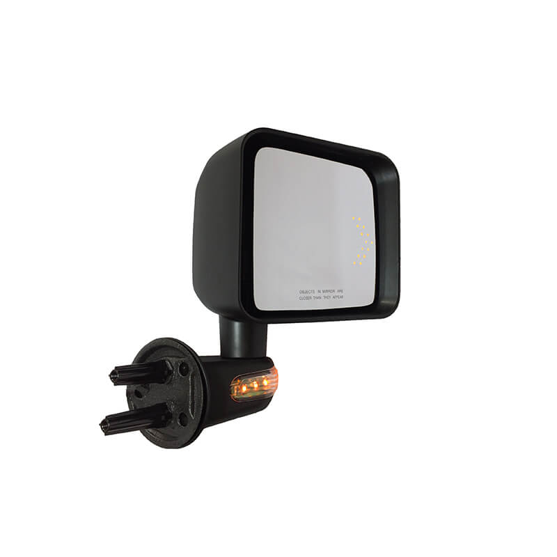Mirror includes arrow direction light and signal light
